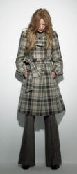 Belted tablecloth check plaid coat - 2006 Fashion History